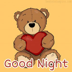 good night teddy bear love pictures