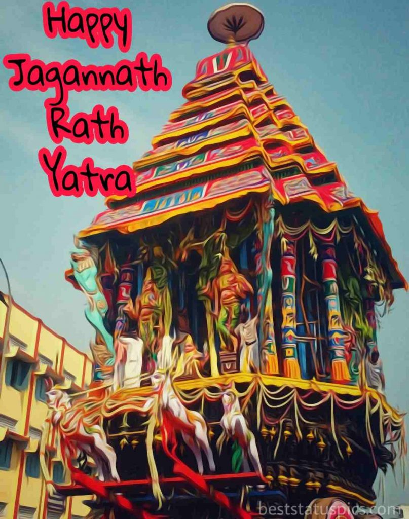 happy rath yatra 2020 wishes pictures with chariot for whatsapp