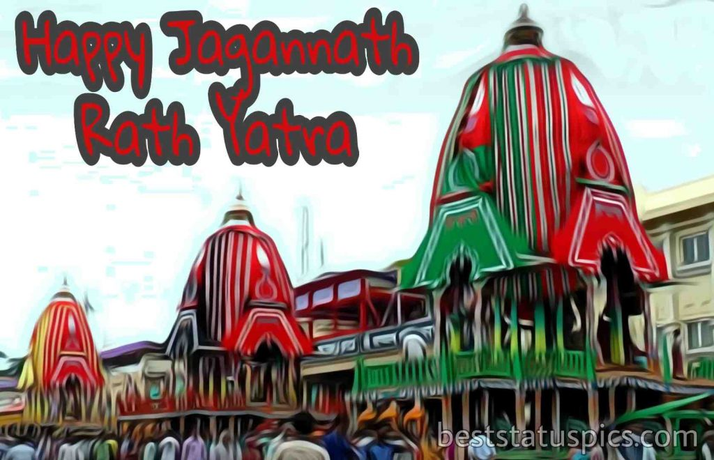 image of happy jagannath rath yatra 2020
