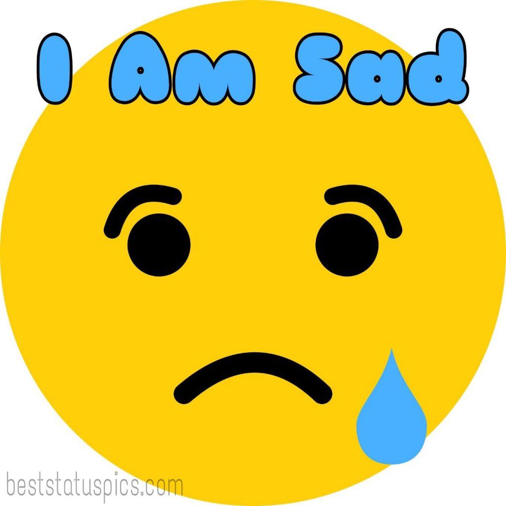 i am sad dp whatsapp images with crying emoji