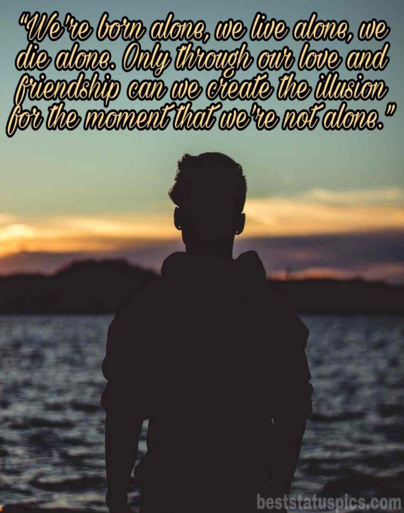 sad alone boy pic quotes