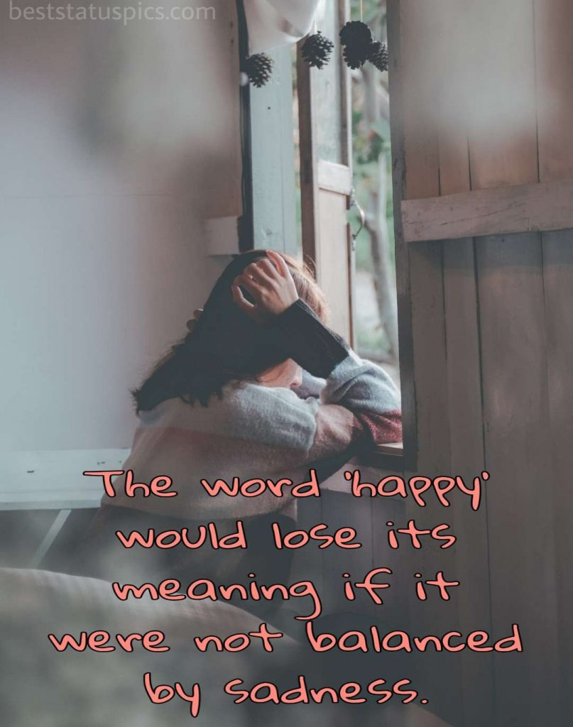 sad girl images with loneliness quotes for facebook
