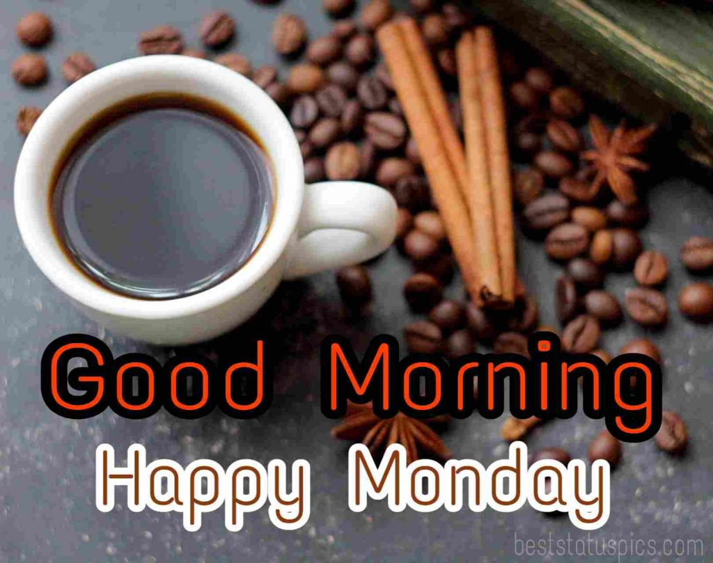 good morning wishes for monday with coffee
