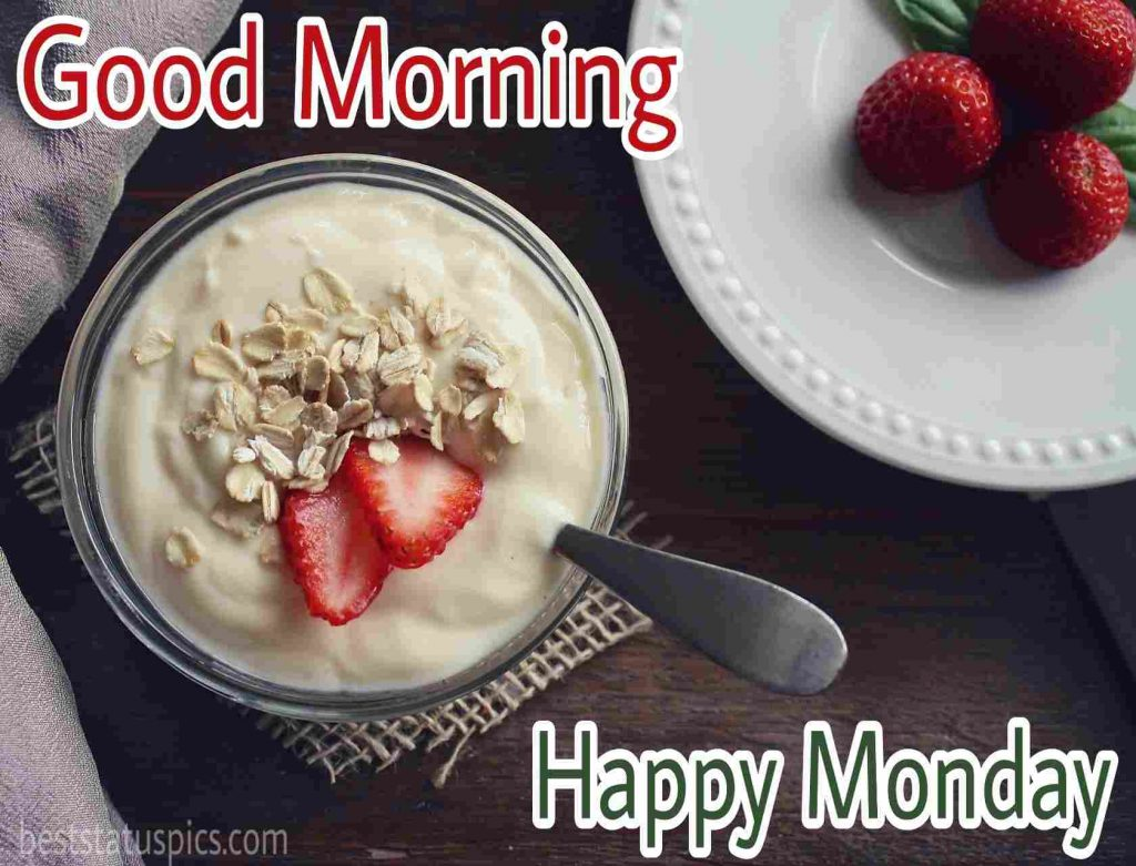 images of good morning happy monday with breakfast