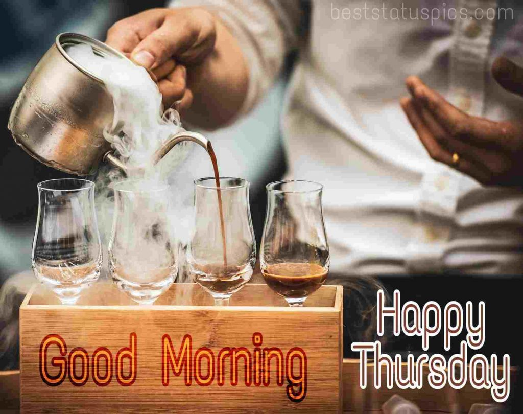 images of good morning happy thursday with breakfast hot coffee