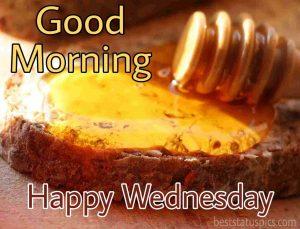 happy wednesday good morning pics with honey bread