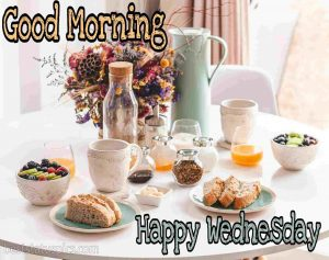 happy wednesday good morning wishes with breakfast image HD