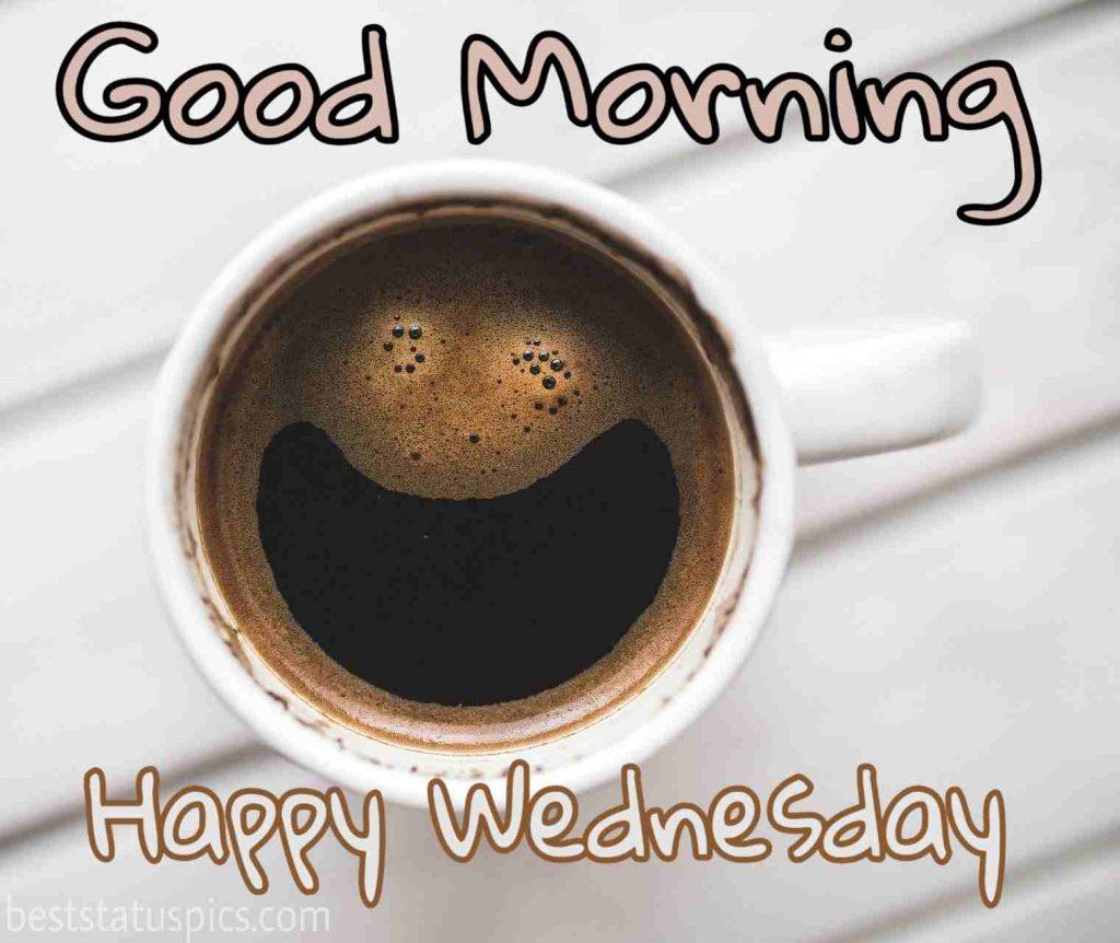 good morning happy wednesday black coffee photo HD