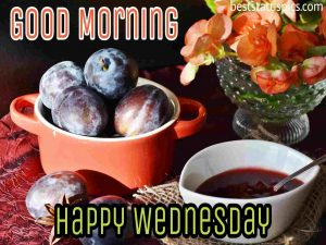 good morning happy wednesday with fruits and juice images