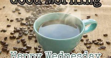 good morning happy wednesday images with hot coffee for whatsapp
