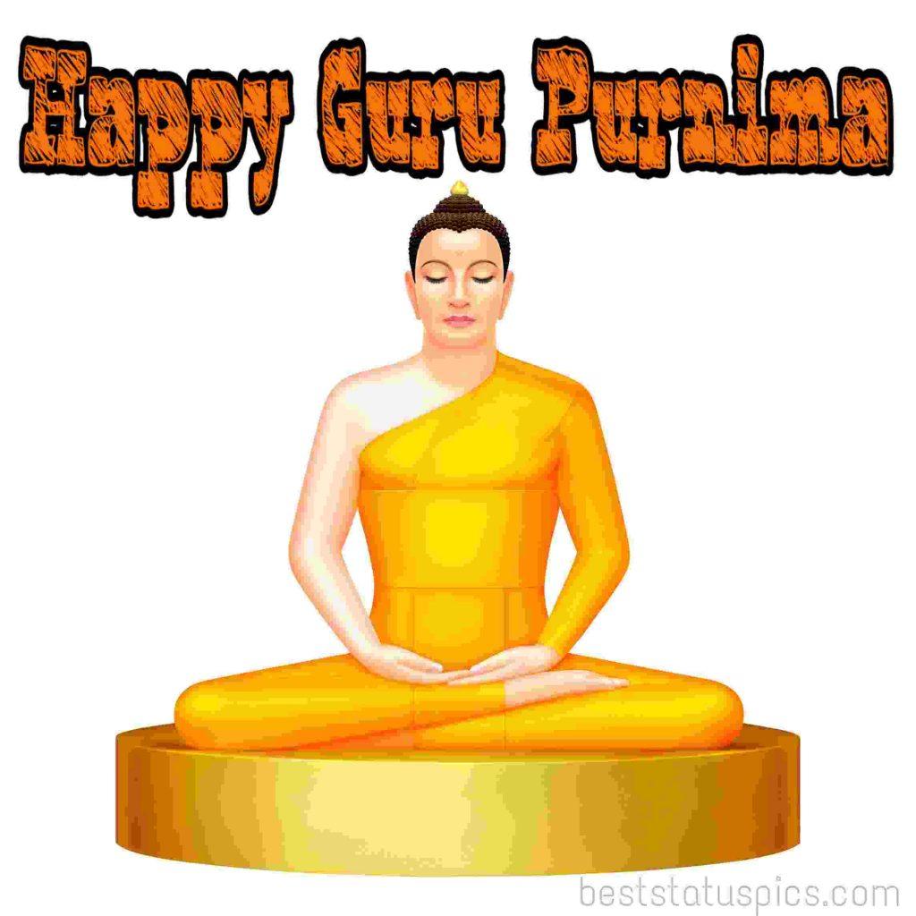 happy guru purnima 2020 quotes images with buddha