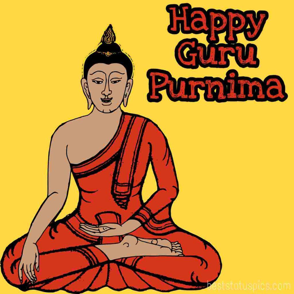 happy guru purnima 2021 with buddha pic