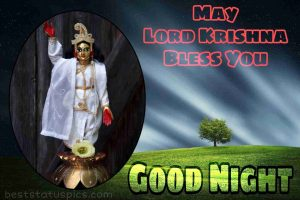 lord krishna good night with may lord krishna bless you wishes