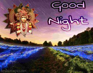 hare krishna good night image HD for Whatsapp DP
