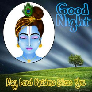Little krishna good night picture for Whatsapp profile