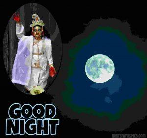 good night hare krishna image for Whatsapp