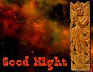 Shree Krishna good night pic with universe