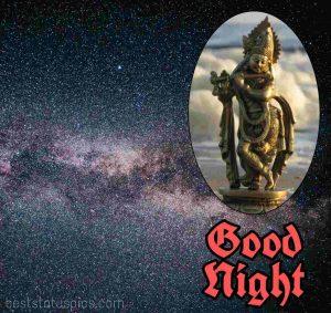 shri krishna good night wallpaper HD