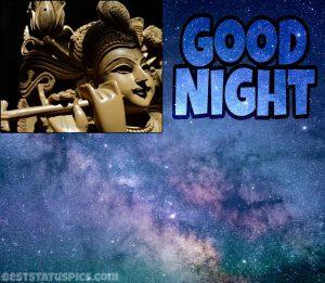 God krishna good night image HD for Whatsapp status