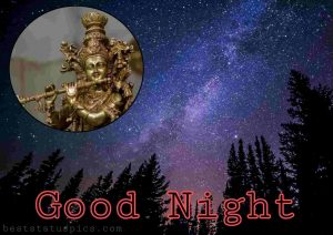 krishna good night message and quote picture