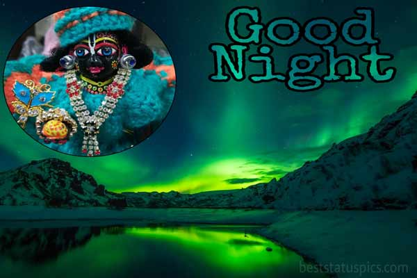 Shree Krishna good night images HD for Whatsapp DP