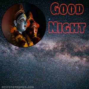 good night with radha krishna image for Facebook status
