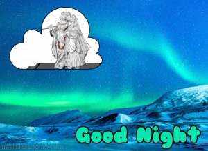 radhe krishna good night image and photo