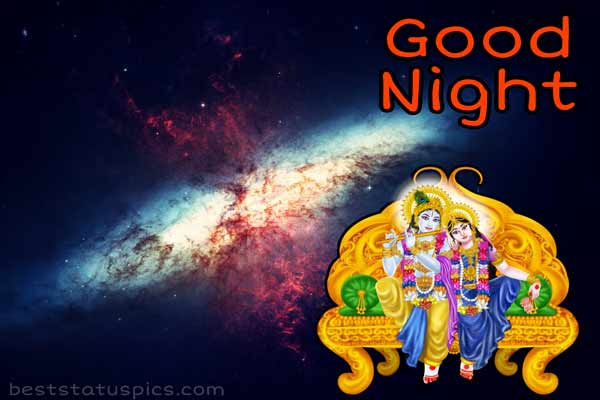 best good night radha krishna images hd for whatsapp dp and status