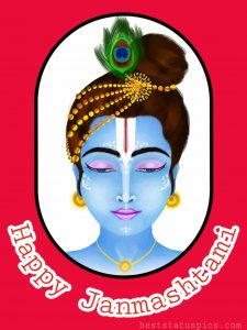 happy janmashtami 2020 images drawing with bal krishna for whatsapp
