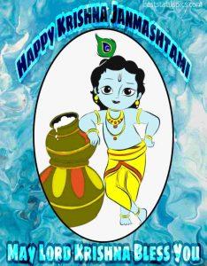 happy Sri Krishna Janmashtami 2020 images with Bal lord Krishna, Kanha, Gopala