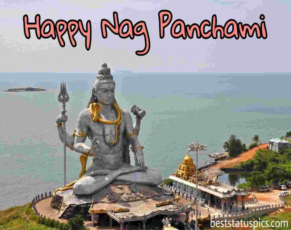 happy nag panchami 2021 photo with lord shiva
