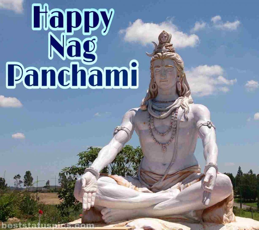 beautiful happy nag panchami 2021 picture HD with lord mahadev