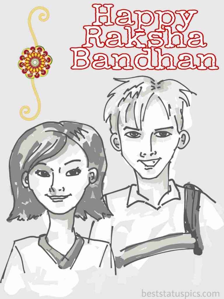 picture of happy raksha bandhan 2020 with rakhi for brother and sister