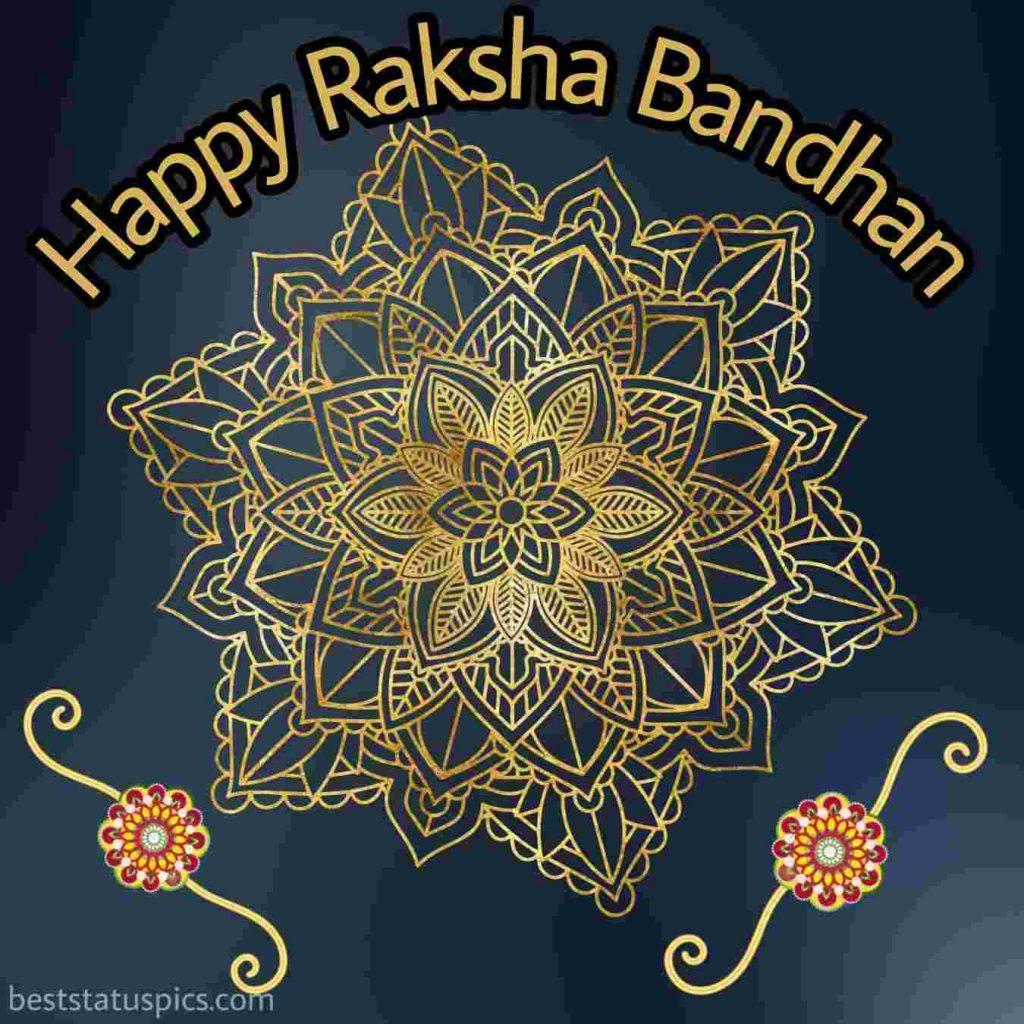 happy raksha bandhan 2020 wishes for WhatsApp DP with rakhi
