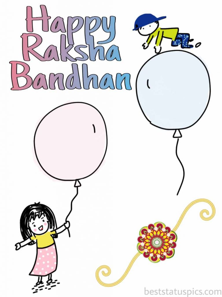 happy raksha bandhan 2020 image HD, quote for brother and sister