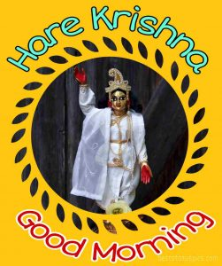 hare krishna good morning image for whatsapp dp