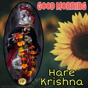hare krishna good morning image HD for whatsapp status