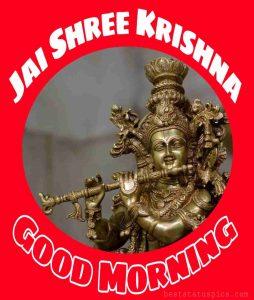Jai shree krishna good morning images HD for Whatsapp Status