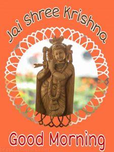 Jai shree krishna good morning wishes image for facebook