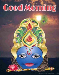 krishna good morning pic for Whatsapp DP