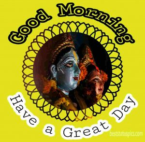 radhe krishna good morning and have a great day image