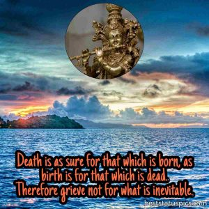 krishna god quotes on life with image for whatsapp profile
