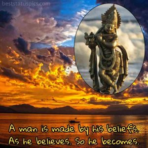Shri krishna quotes for life in english with image for whatsapp DP