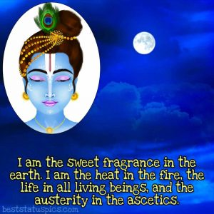 Shree krishna quotes for life in english with photo for whatsapp DP