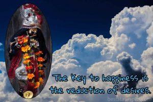lord krishna status on key to happiness in english