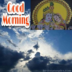 good morning nature and love images HD of radha krishna