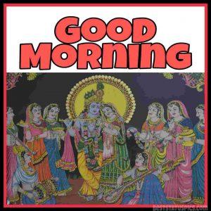 good morning radha krishna pic for whatsapp profile