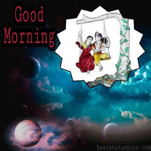 good morning HD images with shri krishna radha ji