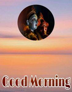 good morning images with lord radha krishna