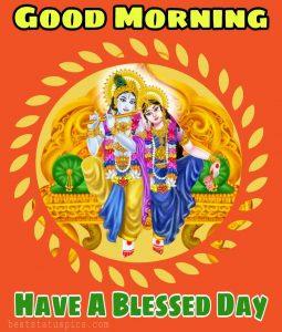 good morning images HD of Radha krishna